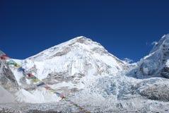Support Everest et Khumbu Icefall photos libres de droits
