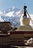 Support Everest, le plus haut au monde, 8850 M. Image stock