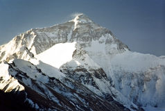 Support Everest, le plus haut au monde, 8850m. Images stock