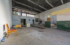 Support facilities at an abandoned airport Royalty Free Stock Image