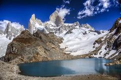 Support Fitz Roy, Patagonia, Argentine Photos libres de droits