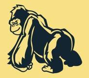 Support Gorilla Line Art Image stock
