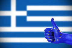 Support  for Greece Stock Images