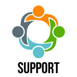 Support.Group of four people Stock Photography