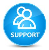 Support (group icon) elegant cyan blue round button Royalty Free Stock Photography