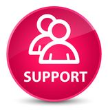 Support (group icon) elegant pink round button. Support (group icon) isolated on elegant pink round button abstract illustration Royalty Free Stock Images