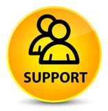 Support (group icon) elegant yellow round button Royalty Free Stock Image