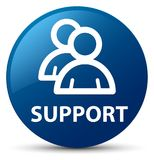 Support (group icon) blue round button Stock Images