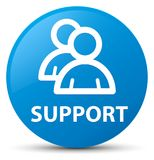 Support (group icon) cyan blue round button Stock Photography