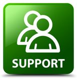Support (group icon) green square button Stock Images