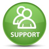 Support (group icon) special soft green round button Stock Photos