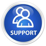 Support (group icon) premium blue round button Stock Image