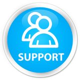 Support (group icon) premium cyan blue round button. Support (group icon) isolated on premium cyan blue round button abstract illustration Royalty Free Stock Images