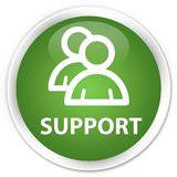 Support (group icon) premium soft green round button Royalty Free Stock Images