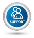 Support (group icon) prime blue round button. Support (group icon) isolated on prime blue round button abstract illustration Royalty Free Stock Photography