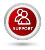 Support (group icon) prime red round button Royalty Free Stock Photography