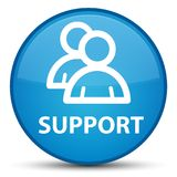 Support (group icon) special cyan blue round button Royalty Free Stock Image