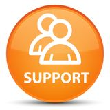 Support (group icon) special orange round button. Support (group icon) isolated on special orange round button abstract illustration Stock Photos