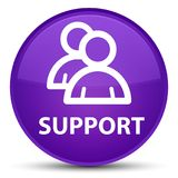 Support (group icon) special purple round button Royalty Free Stock Photography
