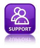 Support (group icon) special purple square button Stock Photography