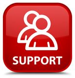 Support (group icon) special red square button Royalty Free Stock Photos