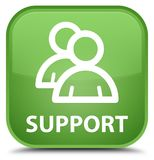 Support (group icon) special soft green square button Royalty Free Stock Photo
