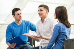 Support Group. Meeting of support group, group discussion or therapy Royalty Free Stock Images