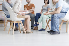 Support group meeting royalty free stock photo