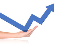 Support Growth In Business Royalty Free Stock Photo