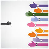 Support and help concept,teamwork hands concept,handshake concep Royalty Free Stock Photo