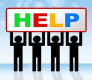 Support Help Indicates Assist Answers And Advice Royalty Free Stock Images