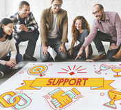 Support Helping Advice Collaboration Concept Stock Photo