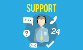 Support Helping Customer Service Advice Concept Royalty Free Stock Images