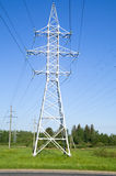 Support high-voltage power lines stock photos
