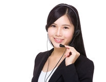 Support hotline worker Royalty Free Stock Images