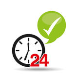 Support 24 hours check in. Vector illustration eps 10 Stock Photography