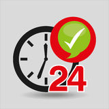 Support 24 hours check in. Vector illustration eps 10 Stock Photo