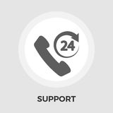 Support 24 hours flat icon Stock Photography