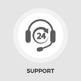 Support 24 hours flat icon Royalty Free Stock Photography