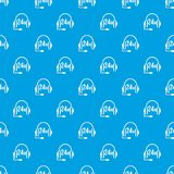 Support 24 hours pattern seamless blue Royalty Free Stock Image