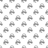 Support 24 hours pattern vector. Support 24 hours pattern seamless in simple style vector illustration Stock Photo