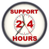 Support 24 hours. Watches with an inscription Royalty Free Stock Photos