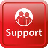 Support icon web button. Of vector illustration on isolated white background Royalty Free Stock Photo