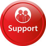 Support icon web button. Of vector illustration on isolated white background Stock Photography