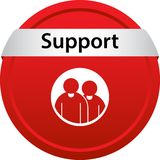 Support icon web button. Of vector illustration on isolated white background Royalty Free Stock Photography