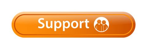 Support icon web button. Of vector illustration on isolated white background Royalty Free Stock Photos