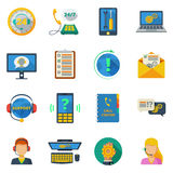 Support icons flat set Royalty Free Stock Image