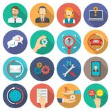 Support Icons Flat Set Royalty Free Stock Photos
