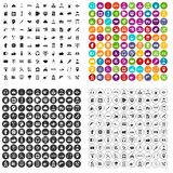 100 support icons set vector variant. 100 support center icons set vector in 4 variant for any web design isolated on white Royalty Free Illustration