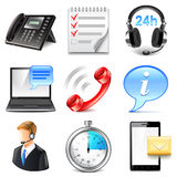 Support and information icons vector set Stock Images